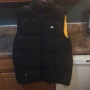 MENS Cat M Black Winter Vest